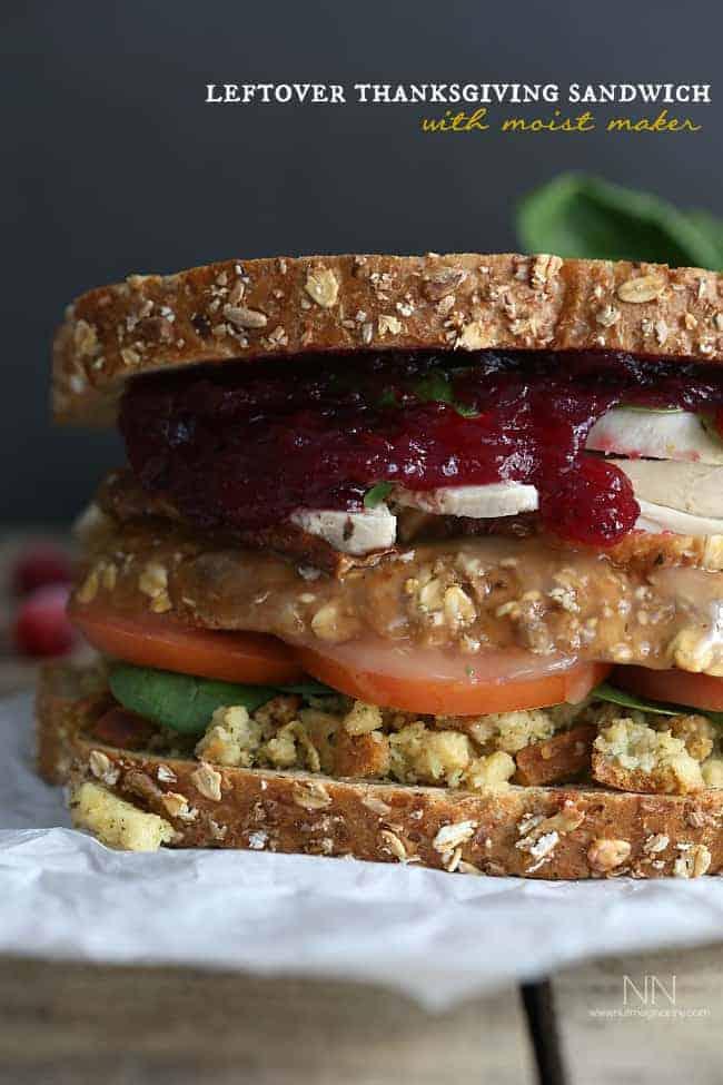 Leftover Thanksgiving Sandwich with Moist Maker - Leftover Turkey Recipes