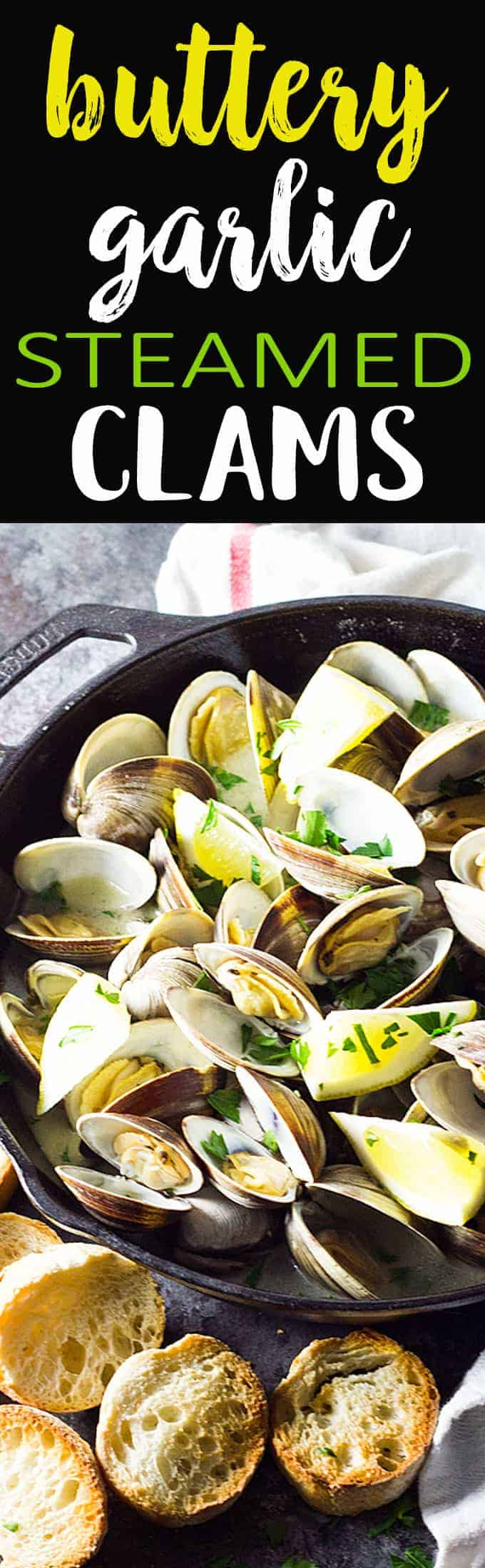 Just 15 minutes is all it takes for these steamed clams in a velvety, buttery garlic white wine sauce!