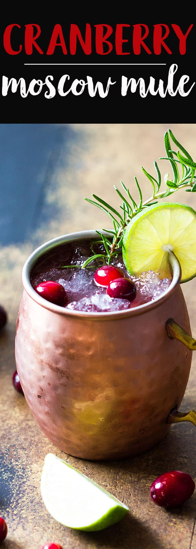 Cranberry Moscow Mule - A festive cocktail for holiday gatherings!