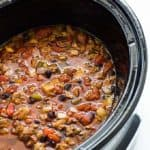 Crock Pot Beefy Black Bean Chili
