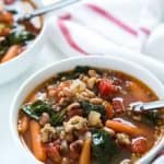 Black-Eyed Pea Soup with Sausage and Spinach