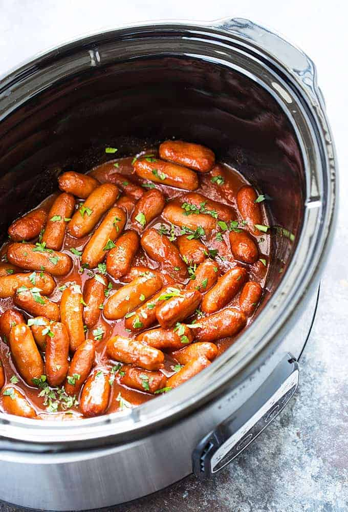 Crock Pot Honey Garlic Little Smokies - An effortless and delicious appetizer!