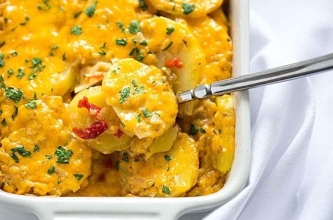 Pimento Cheese Au Gratin Potatoes