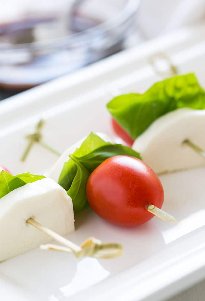 Caprese Bites – Such an EASY and healthy appetizer with just 4 simple ingredients!