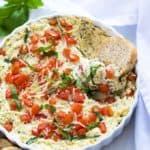 Hot Cheesy Caprese Dip