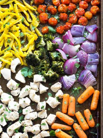 Sheet Pan Chicken and Vegetables - One pan perfectly seasoned chicken and healthy veggies!
