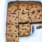 Easy Chocolate Chip Toffee Bars