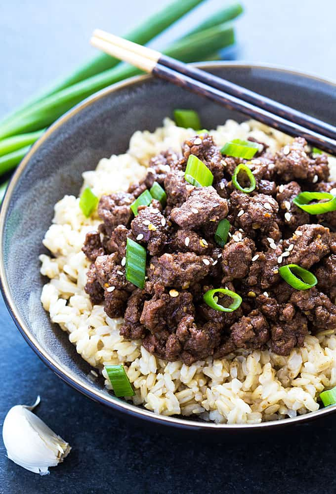 Easy korean beef bowl the blond cook easy korean beef bowl a quick easy and budget friendly dinner in less forumfinder Choice Image