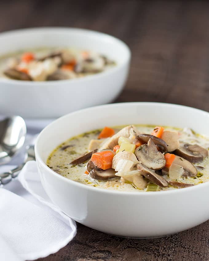 Creamy Chicken and Mushroom Soup | The Blond Cook