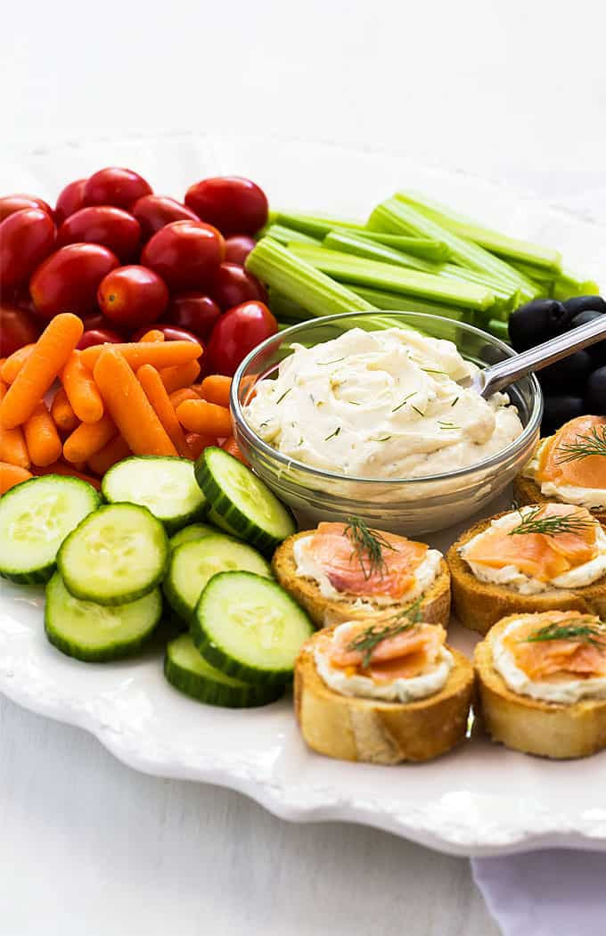 Dijon Dill Cream Cheese - A savory dip or spread that goes with just about any veggie - delicious on bagels and crackers, too!