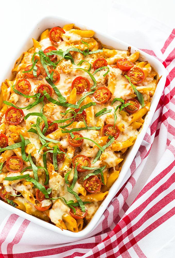 Caprese Chicken Pasta Casserole | The Blond Cook