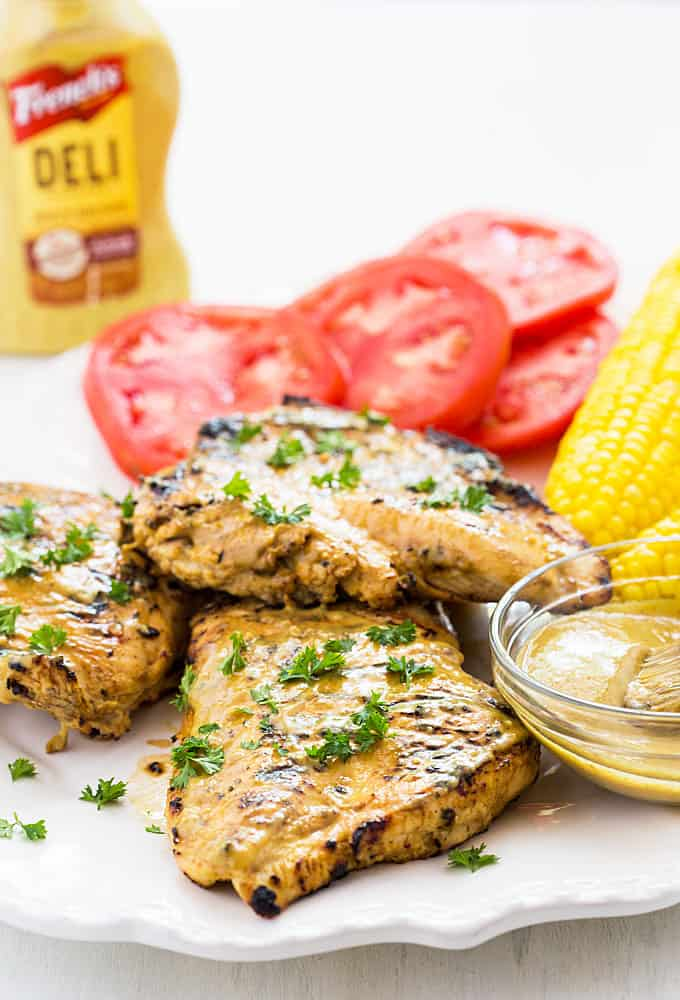 Spicy Mustard Marinated Grilled Chicken