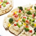 Cheesy Lemon Pepper Veggie Flatbread
