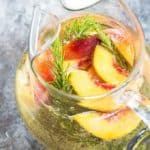 Rosemary Peach Sangria
