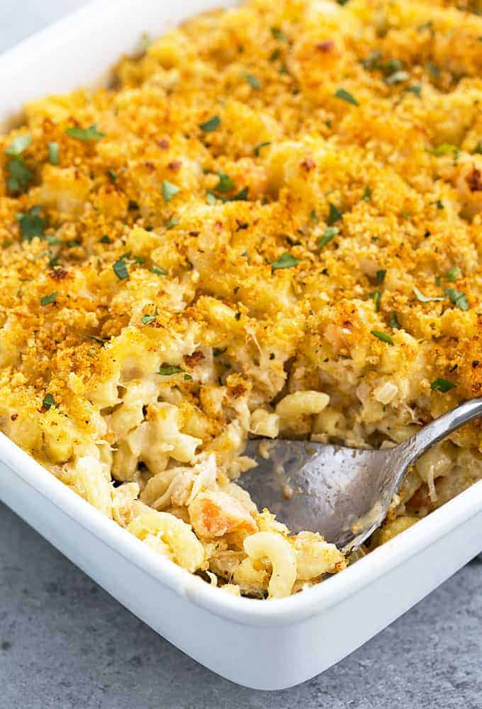 Seafood Mac and Cheese - The ultimate seafood comfort food... perfectly seasoned cheesy macaroni full of shrimp and crab meat!