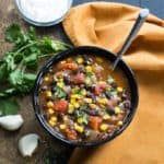 Black Bean, Corn and Tomato Soup
