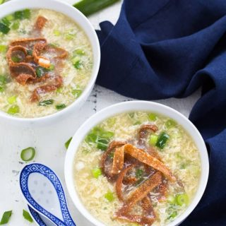 Egg Drop Soup is so EASY to make at home and so much better than takeout!