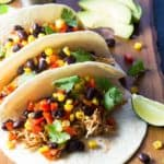 BBQ Chicken and Black Bean Tacos