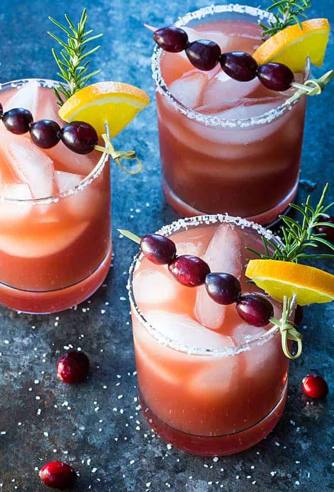 Cranberry Orange Margaritas - Sweet and tart fall-inspired margaritas that are guaranteed to be a crowd-pleaser!