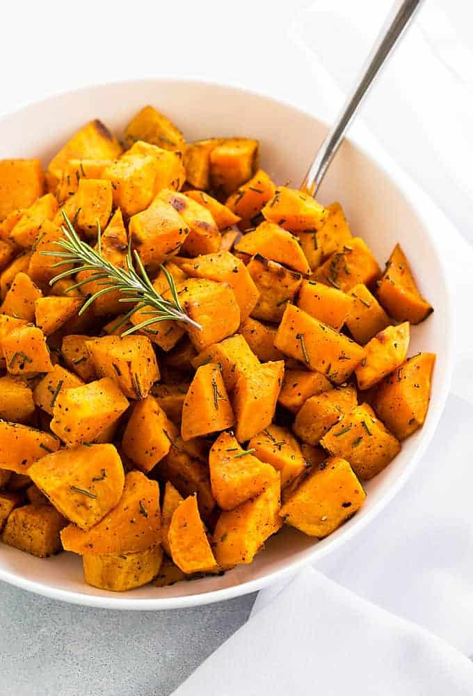 Roasted Rosemary Sweet Potatoes The Blond Cook