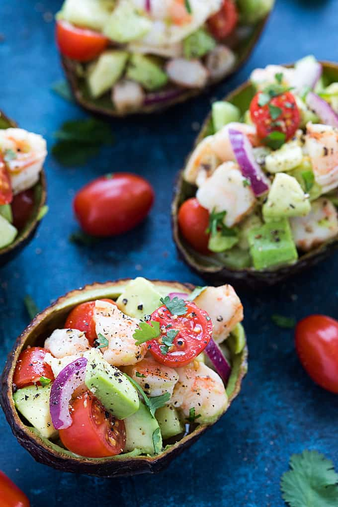 Shrimp Stuffed Avocados