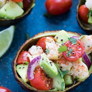 Shrimp Stuffed Avocados