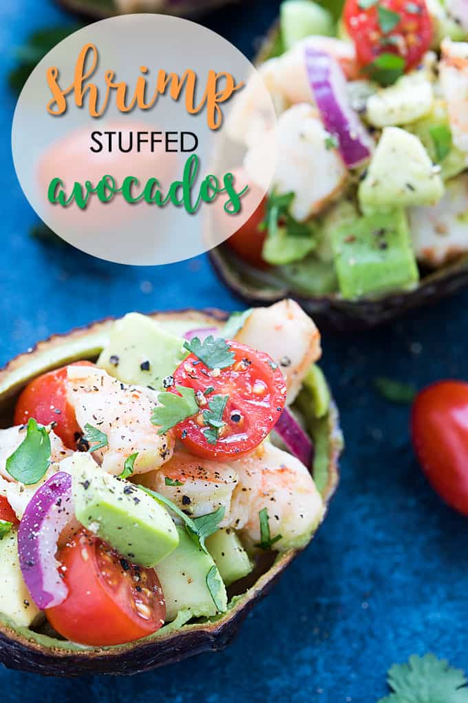 Shrimp Stuffed Avocados #shrimp #healthy #seafood