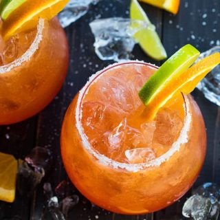 Sunrise Beer Margaritas - A delicious and colorful twist to the classic beer margarita that serves a crowd!