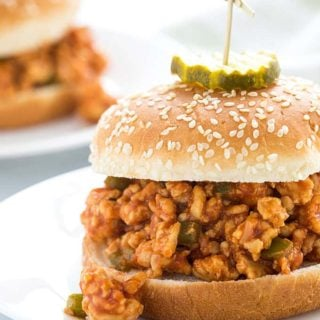 Turkey Sloppy Joes - A hearty and healthier twist on traditional sloppy joes!