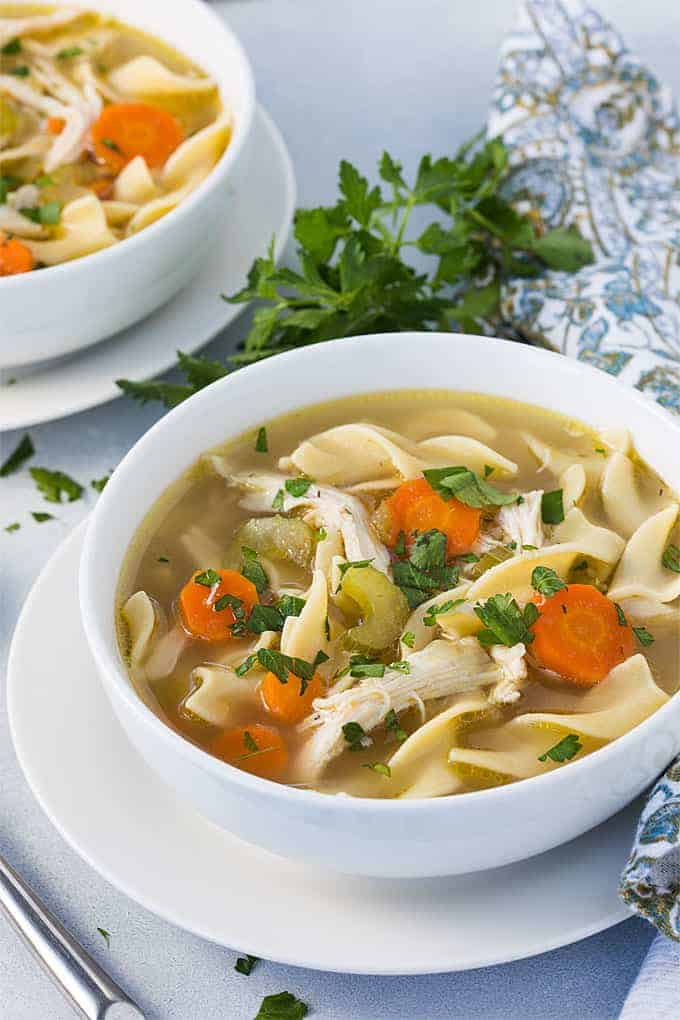 Instant Pot Chicken Noodle Soup - Homemade chicken noodle soup has never been easier or quicker than in your pressure cooker!
