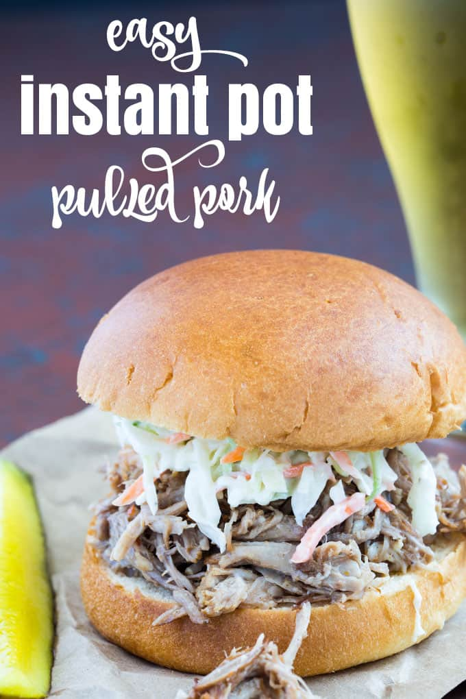 Easy Instant Pot Pulled Pork - You're just a few ingredients away from the most tender and flavorful pulled pork in a fraction of the time!