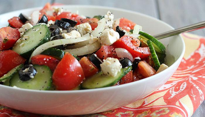 Greek Summer Salad The Blond Cook