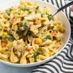 Instant Pot Cheesy Chicken, Noodles and Vegetables