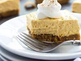 No Bake Pumpkin Cheesecake Bars The Blond Cook