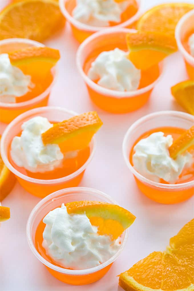 Orange Creamsicle Jello Shots - An easy adult treat that tastes just like an orange creamsicle!