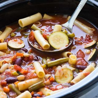 Slow Cooker Vegetable Minestrone (low sodium!)