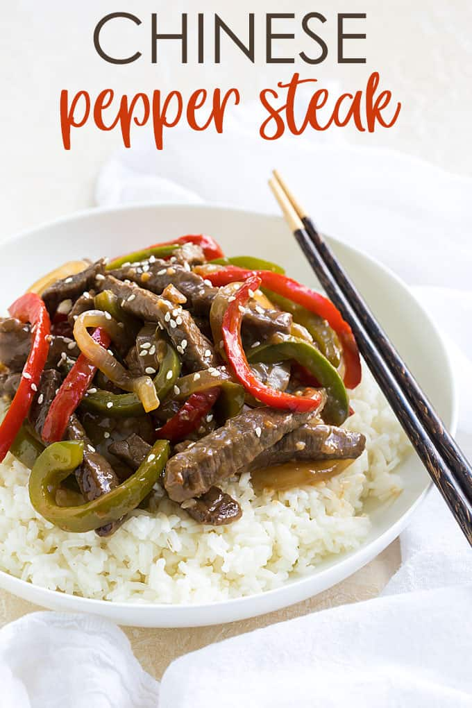 Chinese Pepper Steak - Skip the takeout and make this budget-friendly, easy and flavor-packed pepper steak in less than 30 minutes!