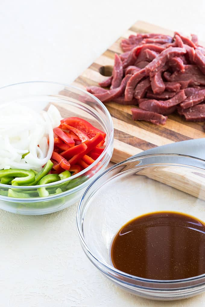 Chinese Pepper Steak Ingredients