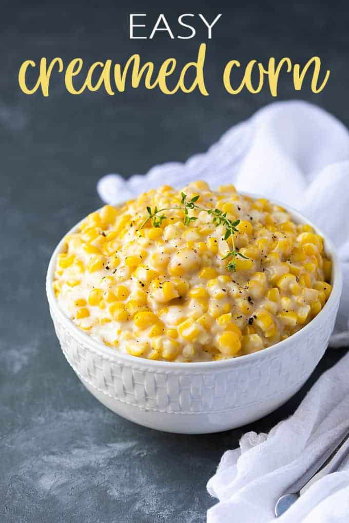 Easy Creamed Corn - You'll never want canned cream corn again! This easy side dish has a perfect balance of sweet and spicy flavors and is ready in under 15 minutes!