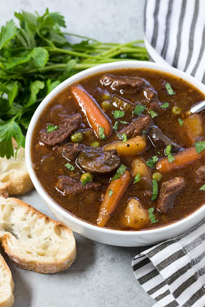 Instant Pot Beef Stew - Hearty, comforting and satisfying beef stew prepared in a fraction of the time using your pressure cooker!
