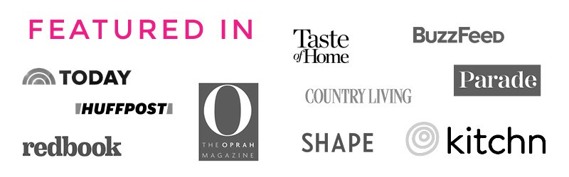 Collage of logos of sites where The Blond Cook has been featured