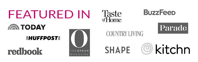 A banner of logos of websites that The Blond Cook has been featured in.